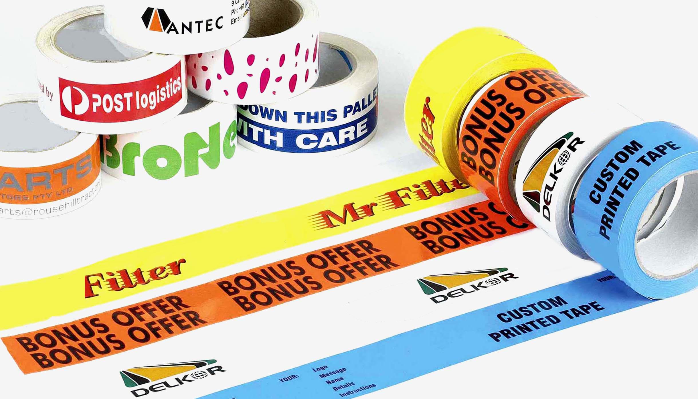 TapeTeam - Tape med tryk - Logotape - Banner - Forskellige tryk - Eksempler